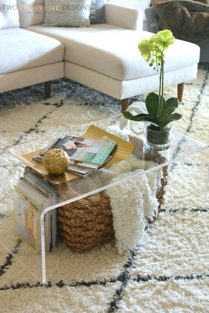 Table: Coffee Table Styling Square All Modern Acrylic (Image 38 of 40)