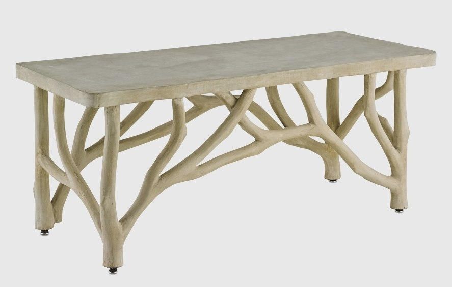 Table En Bois Brillant Bayou Faux Bois Concrete Branch Coffee Table Intended For Faux Bois Coffee Tables (View 11 of 40)