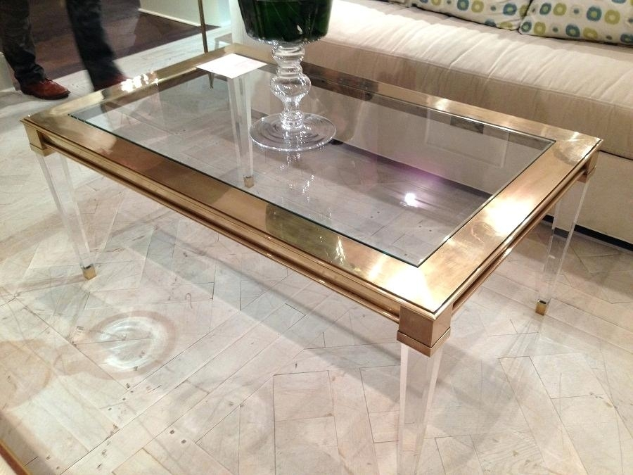 Table: Great Acrylic Coffee Table Clear Tall Peekaboo. Peekaboo With Peekaboo Acrylic Tall Coffee Tables (Photo 25 of 40)
