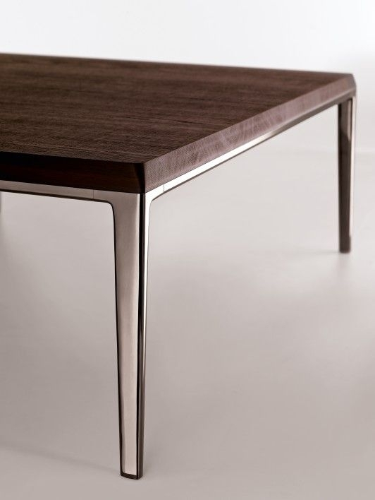 Table Michel B & B Italia Combines The Raw Smoked Oak Of The Table With Regard To Smoked Oak Side Tables (Image 37 of 40)