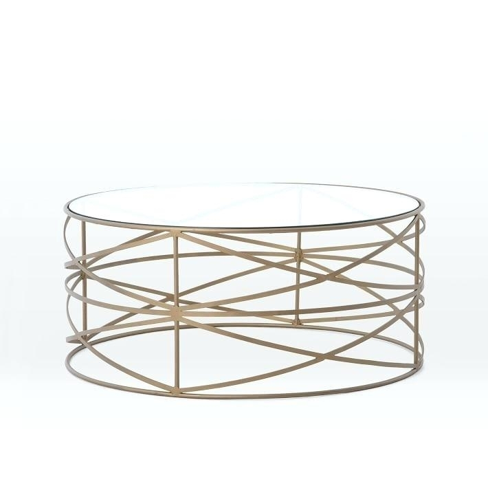 Table: Origami Coffee Table Glass Antique Brass (View 36 of 40)