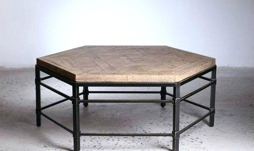 Table: Parquet Coffee Table Regarding Reclaimed Pine & Iron Coffee Tables (View 35 of 40)