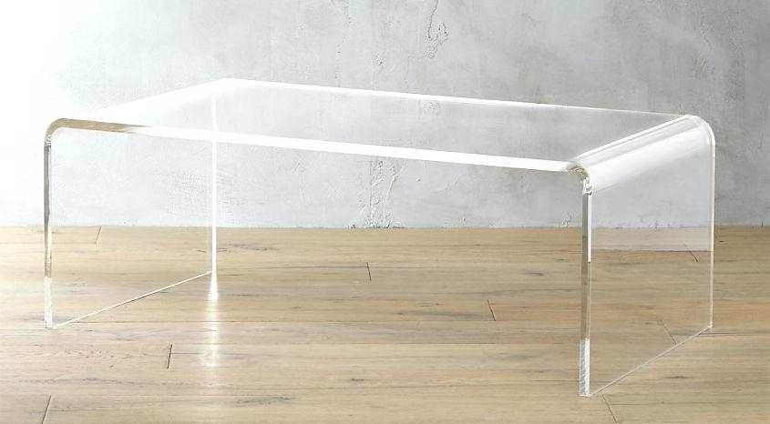 Table: Peekaboo Acrylic Coffee Table Tall (Image 34 of 40)
