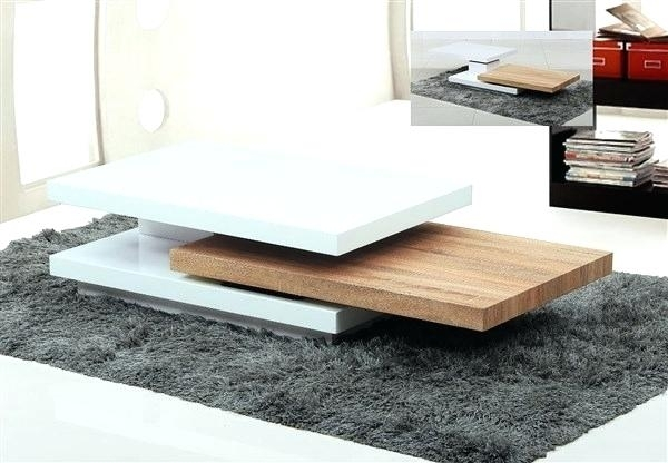 Table: Rotating Coffee Table With Regard To 2 Tone Grey And White Marble Coffee Tables (View 36 of 40)
