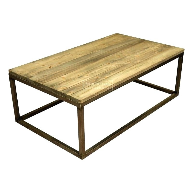 Table: Wood Coffee Tables Oval Table With Metal Legs Reclaimed (View 21 of 40)