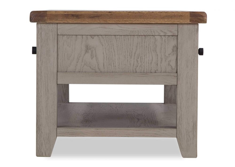 Taupe Oak Coffee Table – Country Cottage – Ez Living Furniture Within Walnut Finish 6 Drawer Coffee Tables (Photo 12 of 40)