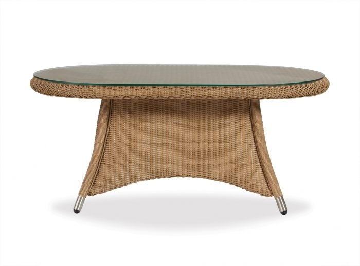 Teak 44X24 Oval Cocktail Table – Shopbrand – Patio Furniture Intended For Ashburn Cocktail Tables (Image 39 of 40)