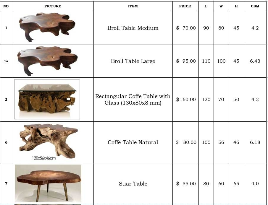 Teak Root Wood Furniture Indonesia Bali Within Broll Coffee Tables (Image 30 of 40)