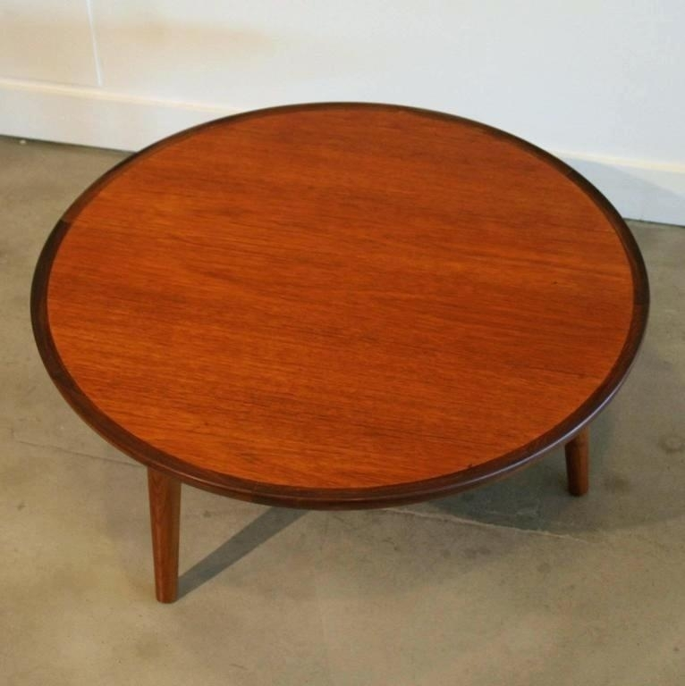 Teak Round Coffee Table With Round Teak Coffee Tables (Image 35 of 40)
