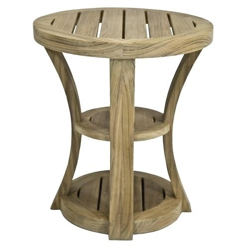 Teak Side Table Outdoor Teak Coffee Table Outdoor Round Teak Coffee For Round Teak Coffee Tables (Image 36 of 40)