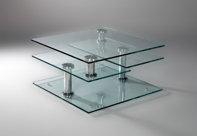 Tempered Glass 4 Tier Swivel Coffee Table In Spin Rotating Coffee Tables (Image 39 of 40)