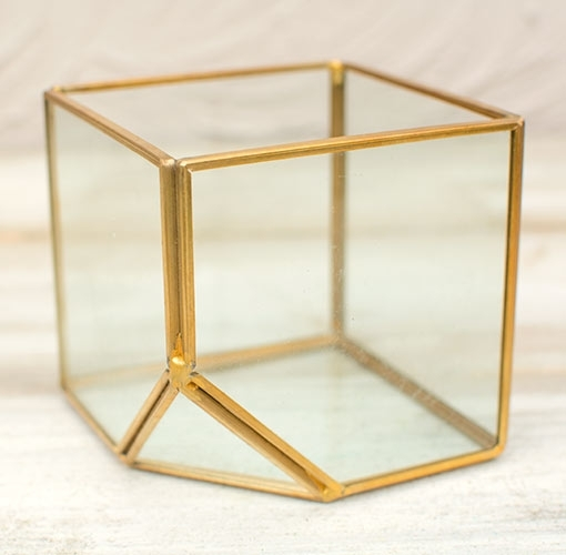Terrarium Display Box, Industrial Geometric Cube, Clear,  (Image 37 of 40)