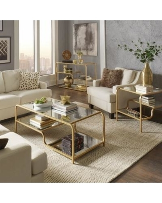 Terrific Gold Coffee Tables Of Find The Best Deals On Giana Within Cuff Hammered Gold Coffee Tables (Photo 37 of 40)