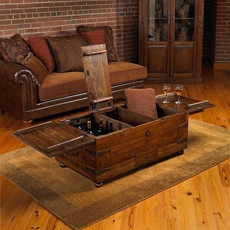 Thakat Bar Box Trunk Coffee Table | Trunk Coffee Tables, Wine And Bar With Regard To Rectangular Barbox Coffee Tables (Image 33 of 40)