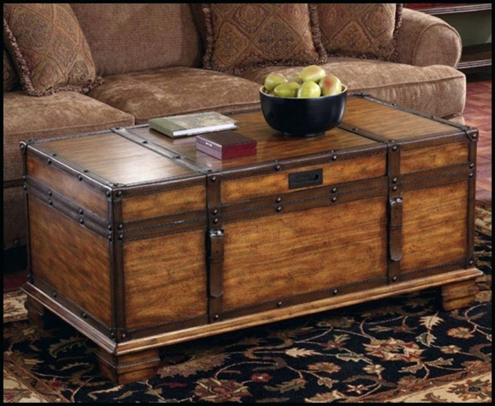 Thakat Trunk Coffee Table Intended For Rectangular Barbox Coffee Tables (Image 38 of 40)