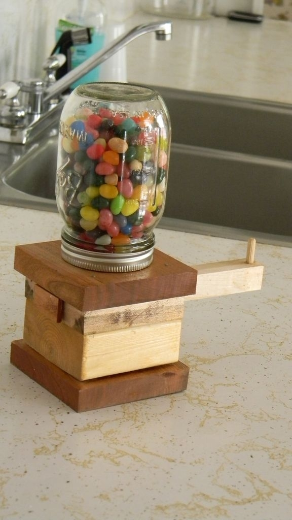 The Awesomest Jelly Bean Dispenser Ever: 6 Steps (With Pictures) Intended For Jelly Bean Coffee Tables (View 31 of 40)