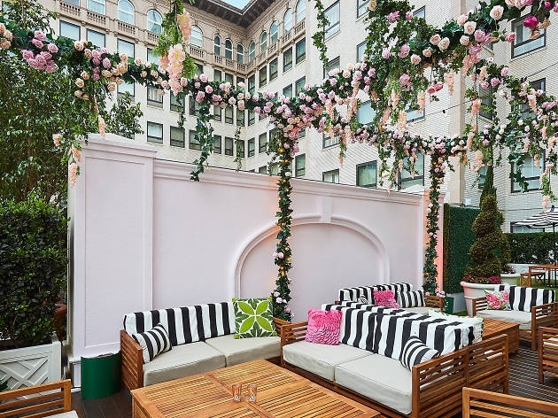 The Beverly Wilshire Hotel Just Launched A Rosé Garden On Its Rooftop Inside Wilshire Cocktail Tables (Image 23 of 35)