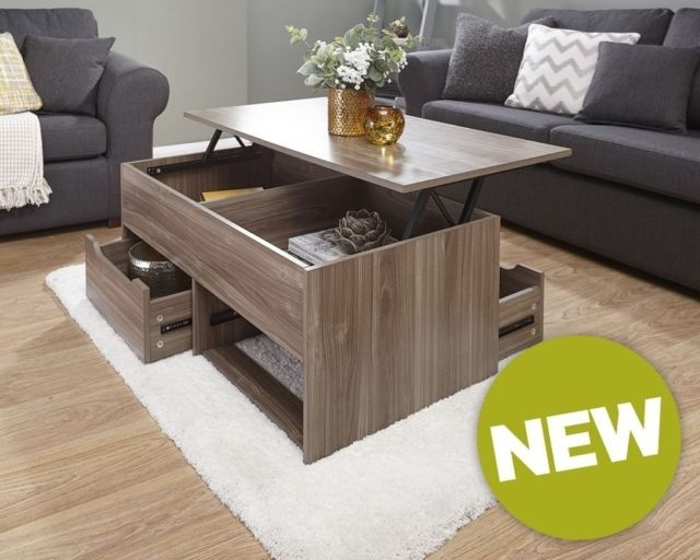 The Ultimate Storage Coffee Table With 2 Drawers And Lift Up Top In For Walnut 4 Drawer Coffee Tables (View 39 of 40)