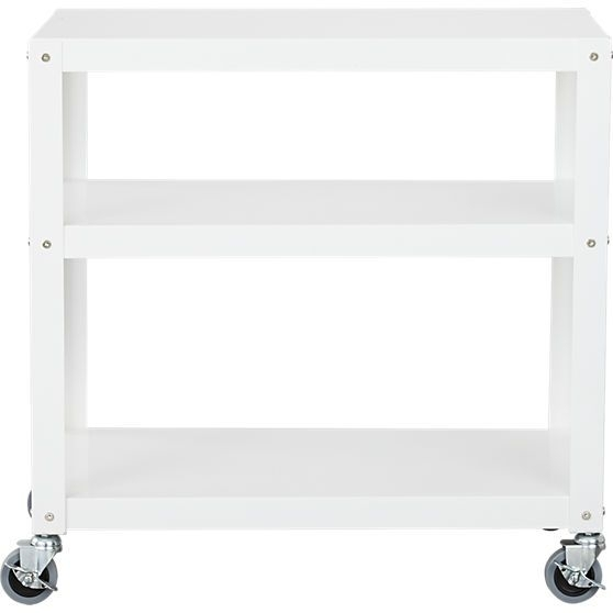 They Brought It Back! Go Cart White Three Shelf Table In Office For Go Cart White Rolling Coffee Tables (View 31 of 40)