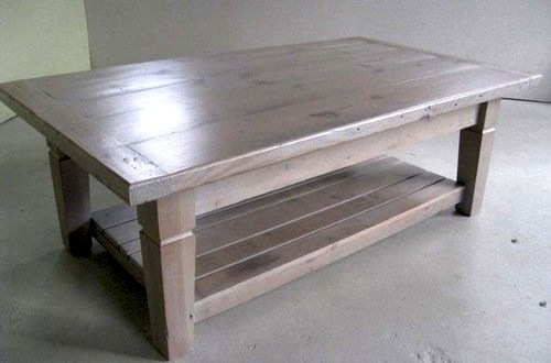 Thick Reclaimed Pine Coffee Table – Ecustomfinishes For Reclaimed Pine & Iron Coffee Tables (View 27 of 40)