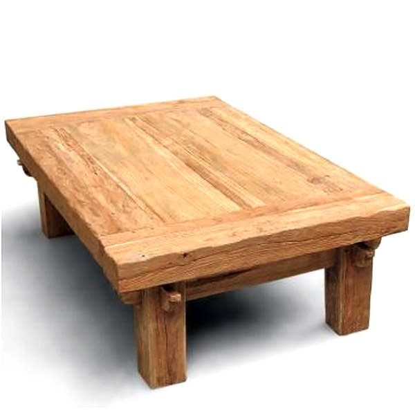 This Large Teak Coffee Table Has A Beautiful Organic Look With The Throughout Large Teak Coffee Tables (View 8 of 40)