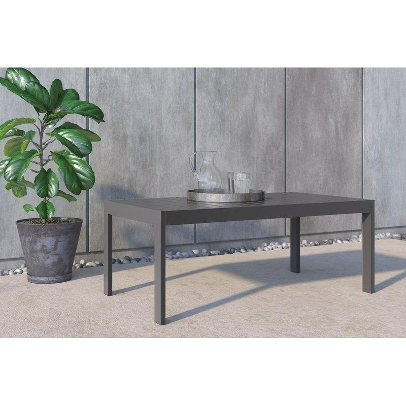 Tommy Hilfiger Tommy Hilfiger Monterey Outdoor Coffee Table, Grey Regarding Gunmetal Coffee Tables (Image 36 of 40)