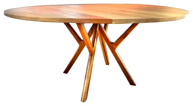 Top 6 Round Walnut Dining Tables In Mid Century Modern Style Cute With 33 Inch Industrial Round Tables (Image 40 of 40)