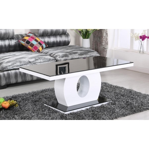 Top Cool White And Black Coffee Table Concerning Contemporary For Within Darbuka Black Coffee Tables (View 23 of 40)