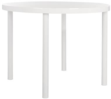 Torin Round Dining Table In White [Id 3753488] | Ebay With Regard To Torrin Round Cocktail Tables (View 10 of 40)