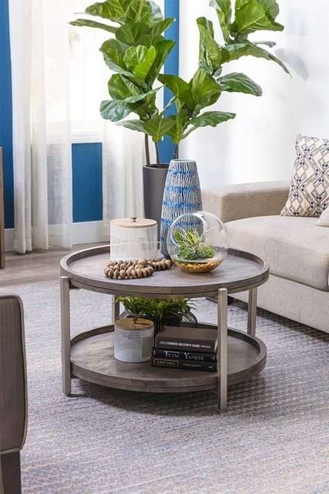 True To Its Name, This Round Coffee Table Is Just Swell (Image 38 of 40)