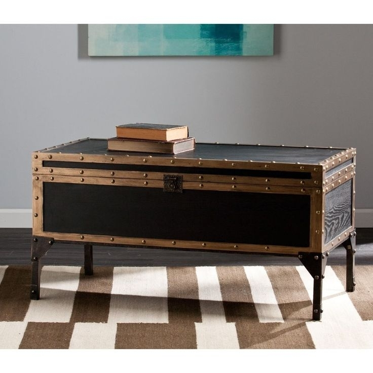 Trunk Coffee Table Cocktail Traditional Living Room Decor Antique In Cody Expandable Cocktail Tables (View 10 of 40)