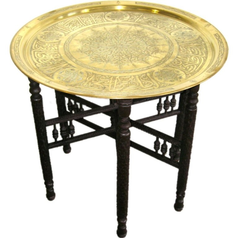Turkish Antique Brass Coffee Table | Inspire Franklin | Pinterest With Antique Brass Coffee Tables (Image 33 of 40)