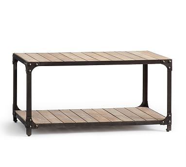 Turlock Coffee Table, Brushed Gray | *coffee & Accent Tables With Regard To Moraga Barrel Coffee Tables (View 11 of 40)