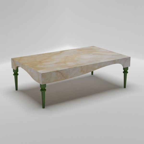 Turned Rectangular Coffee Table – Italian Marble Furniture Pertaining To Suspend Ii Marble And Wood Coffee Tables (View 23 of 40)