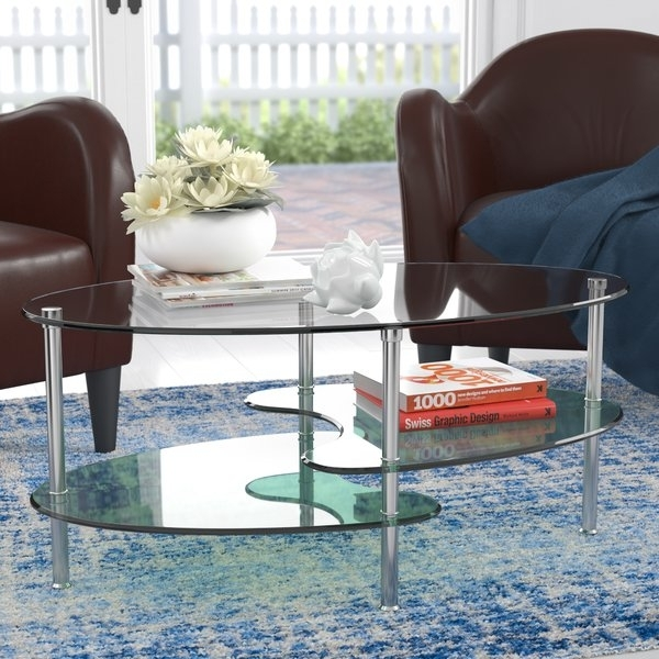 Two Piece Coffee Table | Wayfair Within Autumn Cocktail Tables With Casters (Image 39 of 40)