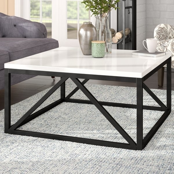 Two Tone Coffee Table | Wayfair Inside 2 Tone Grey And White Marble Coffee Tables (View 14 of 40)