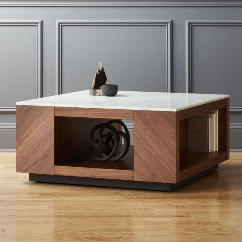 Unique Coffee Tables | Cb2 Throughout Stack Hi Gloss Wood Coffee Tables (Photo 14 of 40)