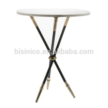 Unique Design Iron Art End Table With Tripod,neo Classical Marble Intended For Iron Marble Coffee Tables (Photo 26 of 40)
