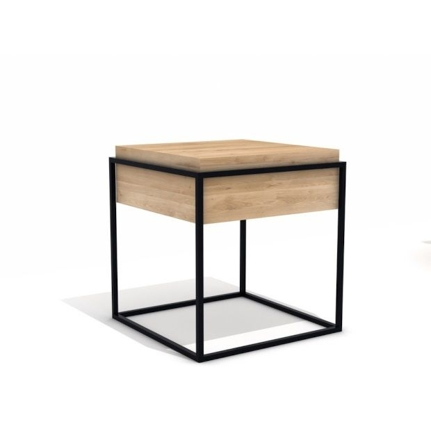 Universo Positivo Monolit Bijzettafel – Zwart | Modern With Lassen Square Lift Top Cocktail Tables (View 7 of 40)