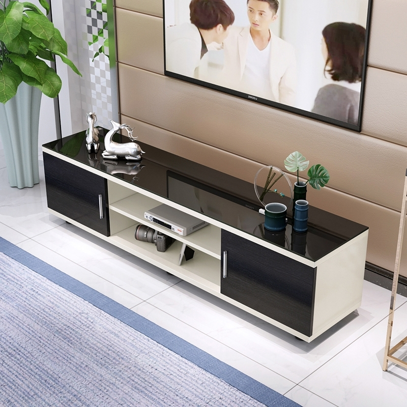 Usd 81.61] Tempered Glass Tv Cabinet Modern Minimalist Coffee Table Within Minimalist Coffee Tables (Photo 23 of 40)