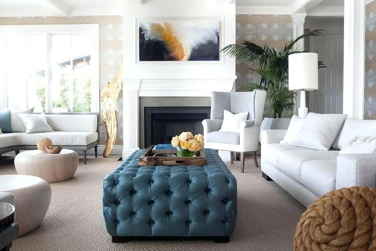 Use Ottoman As Coffee Table Cozy Living Room Centers Round Button Inside Round Button Tufted Coffee Tables (Image 39 of 40)