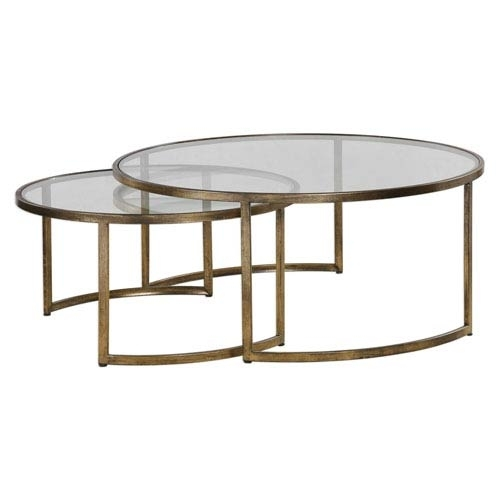 Uttermost Rhea Nested Coffee Tables, Set Of Two 24747 | Bellacor Throughout Set Of Nesting Coffee Tables (View 7 of 40)
