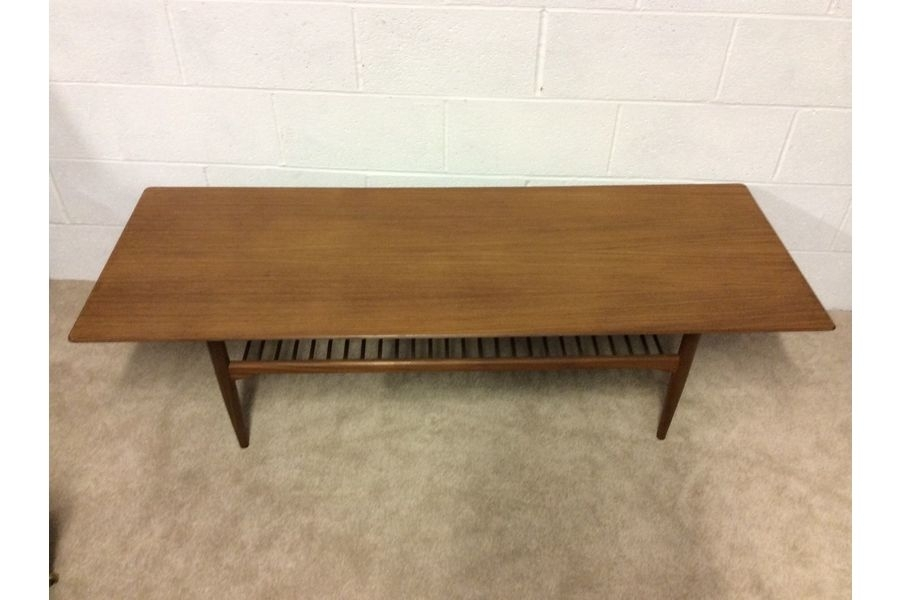 Very Large Vintage 1960S Retro Danish Teak Coffee Table & Magazine For Large Teak Coffee Tables (View 21 of 40)