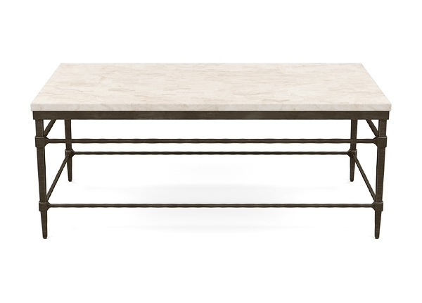 Vida Stone Top Coffee Table | Coffee Tables | Ethan Allen Inside Stone Top Coffee Tables (Image 37 of 40)