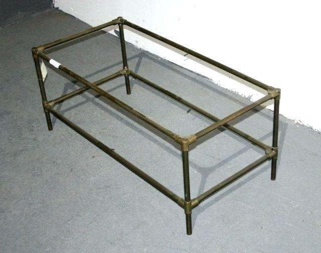 Vintage Brass And Glass Coffee Table Best Antique Brass Glass Coffee Within Antique Brass Coffee Tables (View 14 of 40)
