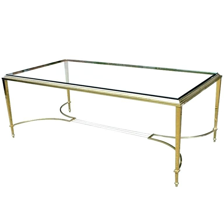 Vintage Brass Coffee Table The Coffee Table The Coffee Table Vintage Pertaining To Rectangular Brass Finish And Glass Coffee Tables (Photo 40 of 40)