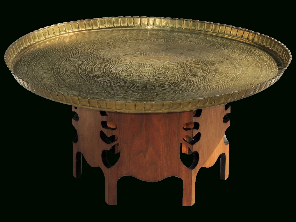 Vintage Brass Top Coffee Table | Coffee Tables Throughout Antique Brass Coffee Tables (View 26 of 40)
