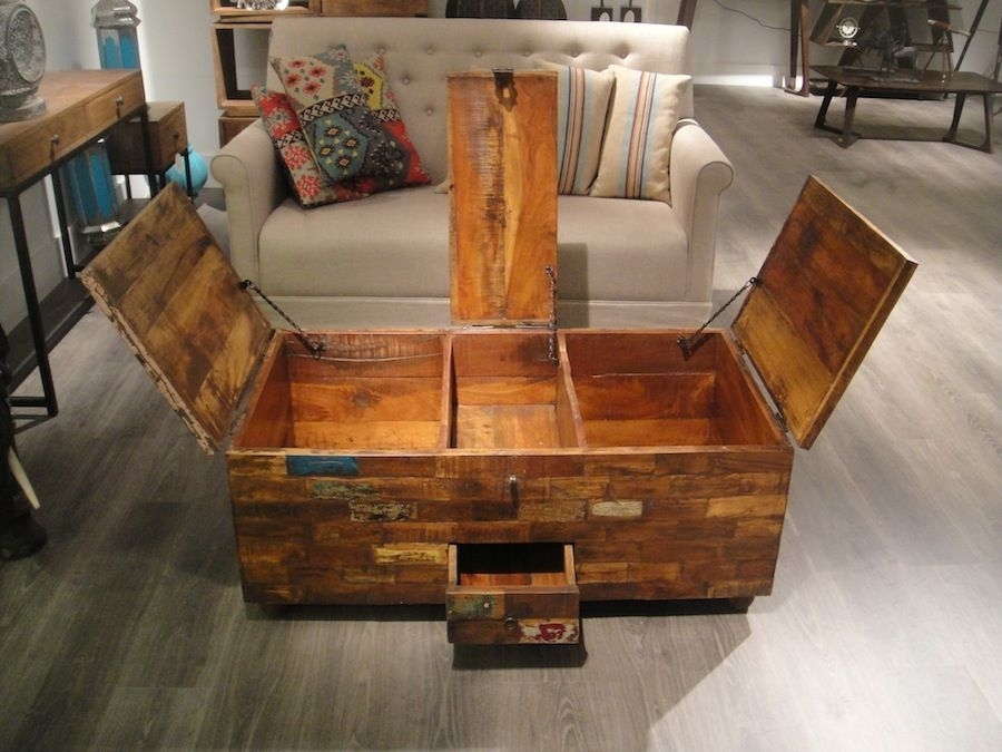 Vintage Chest Coffee Table Wood Coffee Table Chest | Home With Vintage Wood Coffee Tables (Image 25 of 40)
