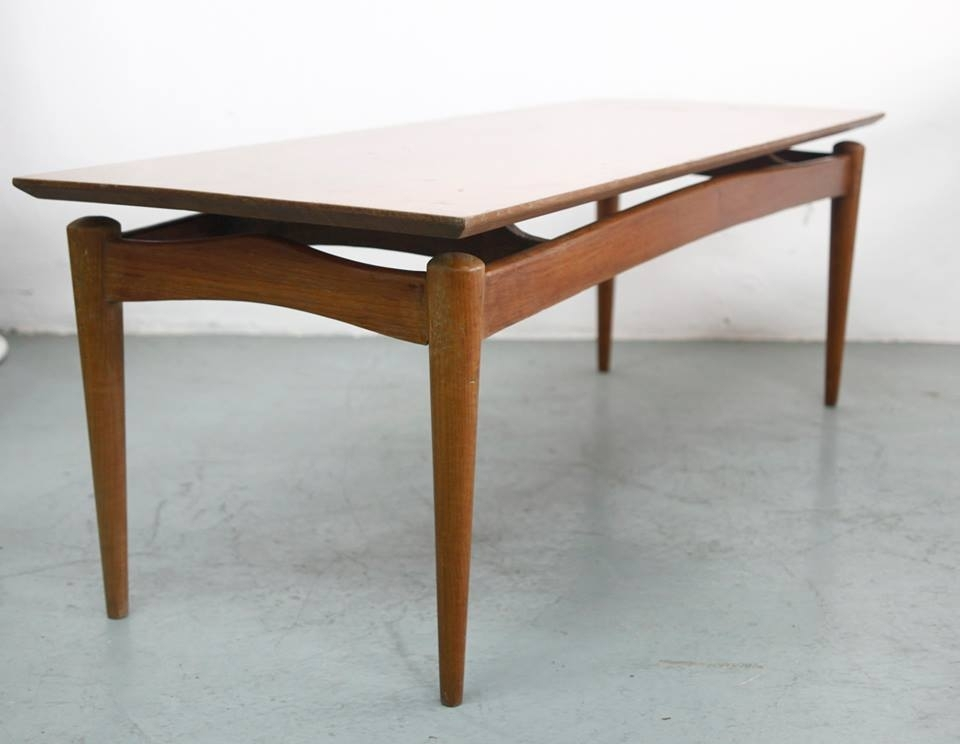 Vintage Mid Century Modern Teak Coffee Table « Things Your Mother With Antiqued Art Deco Coffee Tables (Photo 29 of 40)