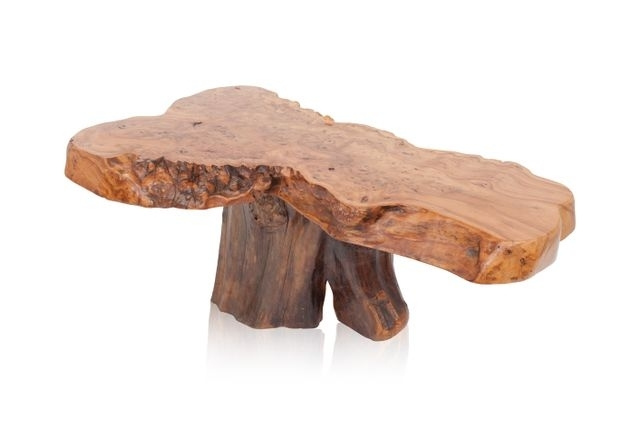 Vintage Natural Burl Wood High Gloss Coffee Table For Sale At Pamono Throughout Stack Hi Gloss Wood Coffee Tables (Photo 28 of 40)